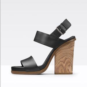Vince Haley Leather Platform Sandal size 8